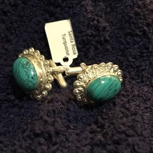 NWT Santa Rosa Turquoise SterlingSilver Cuff Links
